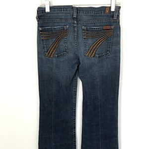 7FAM Medium Wash Dojo U115219s-219s Boot Cut Jeans